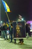 Protesta rumena 09/11/2015 Fotografie Stock Libere da Diritti
