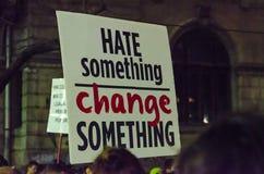 Protesta rumena 09/11/2015 Fotografia Stock Libera da Diritti