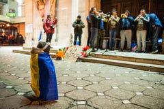 Protesta rumena per la democrazia fotografia stock libera da diritti