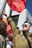 Protesta rusa del soldado Fotos de archivo libres de regalías