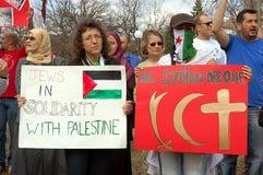Protesta siriana Immagine Stock