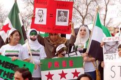Protesta siriana Fotografie Stock Libere da Diritti