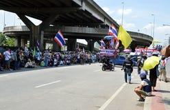 Protesta in Tailandia Fotografie Stock Libere da Diritti