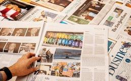 Protesta a través del mundo durante el triunfo Innauguration Fotografía de archivo libre de regalías