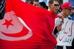 Protesta in Tunisia Immagine Stock