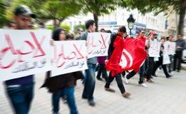 Protesta in Tunisia immagini stock