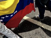 Protesta venezolana Imágenes de archivo libres de regalías
