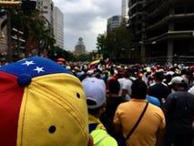 Protesta venezolana Fotografía de archivo libre de regalías