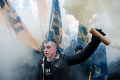 Protestactie onder het Kyiv-hof van appel Royalty-vrije Stock Afbeelding