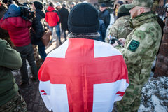 Protestacyjna akcja pod Kyiv sądem appel Obraz Stock