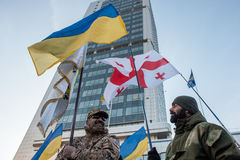 Protestacyjna akcja pod Kyiv sądem appel Obrazy Royalty Free
