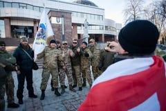 Protestacyjna akcja pod Kyiv sądem appel Zdjęcie Royalty Free