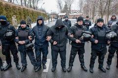 Protestacyjna akcja pod Petro Poroshenko siedzibą Obraz Stock