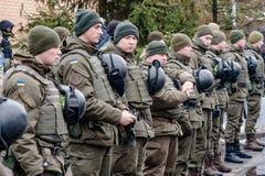 Protestacyjna akcja pod Petro Poroshenko siedzibą Zdjęcia Royalty Free