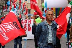 Protestacyjna akcja w Rzym Zdjęcie Royalty Free