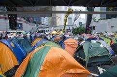 Protestacyjna akcja z namiotowym miastem Zdjęcia Royalty Free
