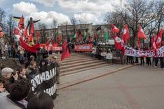 Protestacyjna aktywność w Rosja Obrazy Royalty Free
