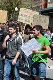 Protestacyjna demonstracja studenci uniwersytetu i studenci collegu w Alicante Fotografia Royalty Free
