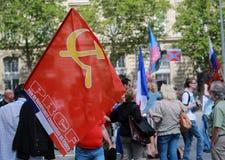 Protestacyjna manifestacja przeciw wojnie w Ukraina Obrazy Royalty Free