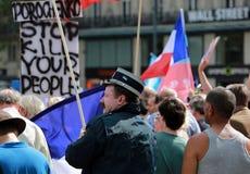 Protestacyjna manifestacja przeciw wojnie w Ukraina Fotografia Royalty Free