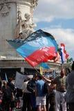 Protestacyjna manifestacja przeciw wojnie w Ukraina Zdjęcia Stock