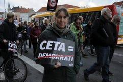 PROTESTACYJNA przerwa TTIP I CETA zgoda Fotografia Royalty Free
