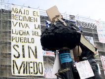 protestacyjna rewolucja podpisuje spanish fotografia stock