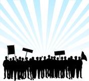 protestacyjne ulicy ilustracja wektor