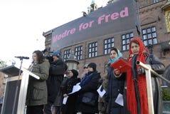 protestacyjne wiec matki DLA pokoju Obraz Stock