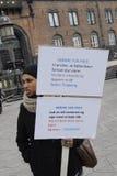 protestacyjne wiec matki DLA pokoju Obraz Royalty Free