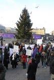 protestacyjne wiec matki DLA pokoju Zdjęcie Royalty Free
