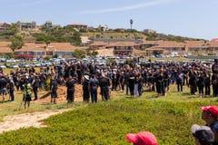 Protestacyjni agains zabija rolników w Południowa Afryka Fotografia Royalty Free