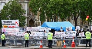 protestacyjny London tamil zdjęcie royalty free