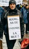 Protestacyjny Macron rzędu Francuski sznurek reformy Obraz Stock