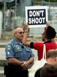 Protestacyjny wiec Obraz Royalty Free