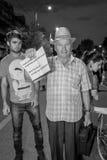 Protestador mais idoso - Rosia Montana Protests Fotografia de Stock