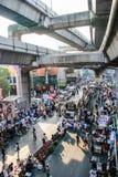 Protestador tailandês contra o governo Imagem de Stock