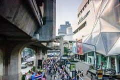 Protestador tailandês contra o governo Imagens de Stock Royalty Free