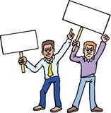 Protestadores ilustração stock
