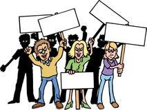 Protestadores ilustração royalty free