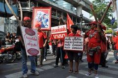 Protestadores da Vermelho-Camisa fotografia de stock royalty free