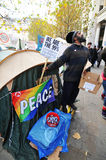 Protestadores de Londres Fotos de Stock