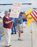 Protestadores do partido de chá Imagem de Stock