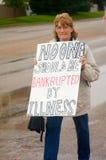 Protestadores dos cuidados médicos fotografia de stock