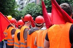 Protestadores durante uma greve geral nacional em Tessalónica Fotos de Stock