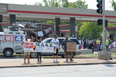 Protestadores em Ferguson Foto de Stock