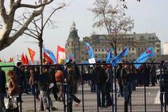 Protestadores socialistas Fotos de Stock