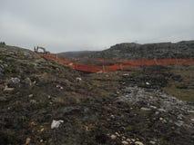 Protestaktion gegen den Bau von Windm?hlen in Norwegen lizenzfreie stockfotos