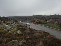 Protestaktion gegen den Bau von Windm?hlen in Norwegen lizenzfreie stockbilder