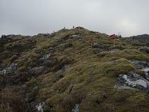 Protestaktion gegen den Bau von Windm?hlen in Norwegen lizenzfreie stockfotografie